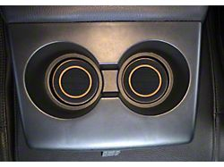 Rear Fold Down Seat Cup Holder Foam Inserts; Black/Tan (07-21 Tundra)