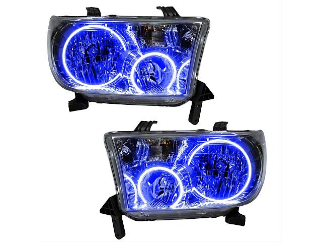 Oracle Headlight Assembly; Plasma Pre-Assembled Headlights, Blue (07-13 Tundra)