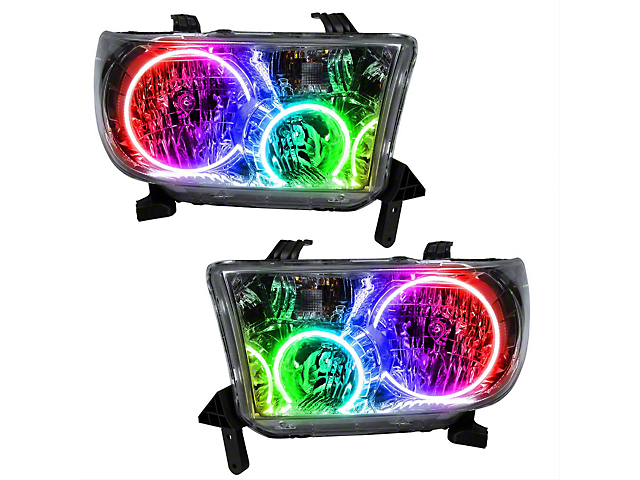 Oracle Headlight Assembly; SMD Pre-Assembled Headlights, ColorSHIFT (07-13 Tundra)