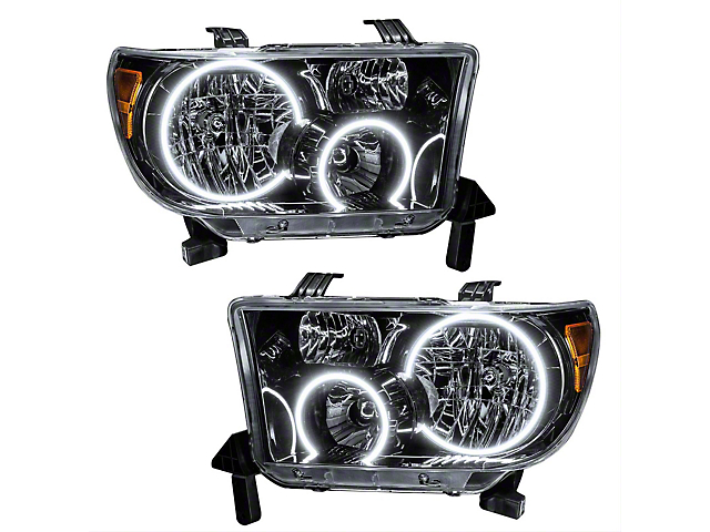Oracle Headlight Assembly; SMD Pre-Assembled Headlights, Black (07-11 Tundra)