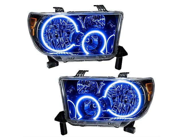 Oracle Headlight Assembly; Plasma Pre-Assembled Headlights, Black Bezel, Blue (07-11 Tundra)