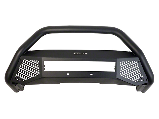 RC4 LR Front Guard; Removal Of Trd Skid Plate And Factory Tow Hooks Is Required License Plate Relocation Is Required; Mild Steel; Textured Black (14-20 Tundra)