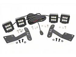 Rough Country 2-Inch Black Series LED Lower Windshield Ditch Kit; Spot Beam (14-21 Tundra)