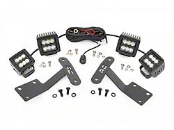 Rough Country 2-Inch Black Series LED Lower Windshield Ditch Kit; Spot/Flood Beam (14-21 Tundra)