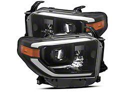 LUXX-Series LED Projector Headlights; Alpha Black Housing; Clear Lens (14-21 Tundra w/ Factory LED Headlights)