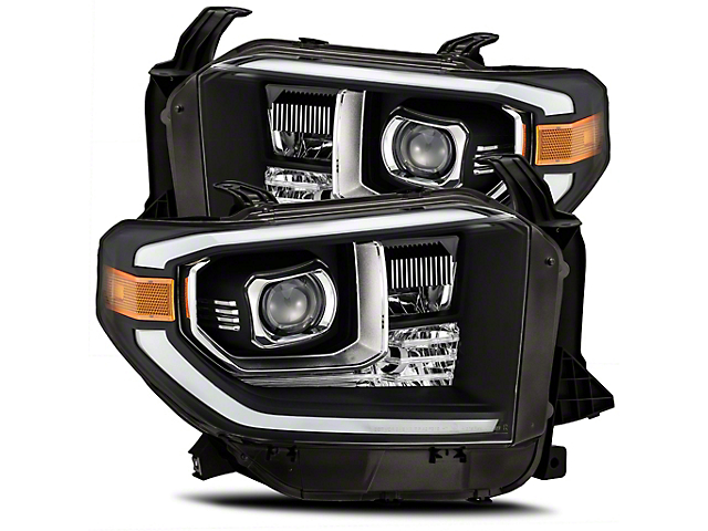 LUXX-Series LED Projector Headlights; Black Housing; Clear Lens (14-21 Tundra w/ Factory LED Headlights)