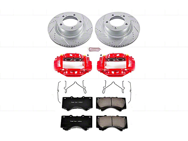 Power Stop Z23 Evolution 5-Lug Brake Rotor, Pad and Caliper Kit; Front (07-15 Tundra)