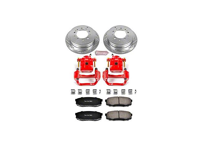 Power Stop Z23 Evolution Sport 5-Lug Brake Rotor, Pad and Caliper Kit; Rear (07-15 Tundra)