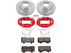 Power Stop Z36 Extreme Truck and Tow 5-Lug Brake Rotor, Pad and Caliper Kit; Front (07-15 Tundra)