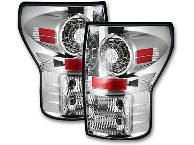 LED Tail Lights; Chrome Housing; Clear Lens (07-13 Tundra)