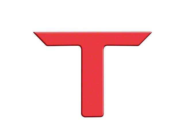 Raised Logo Acrylic Emblem Tailgate Inserts; Red (14-21 Tundra)