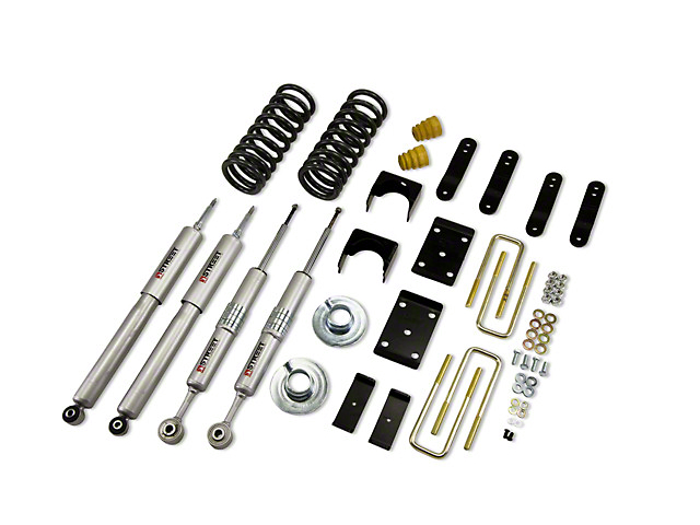 Belltech Lowering Kit with Street Performance Shocks; 2-Inch Front / 4-Inch Rear (07-21 V8 Tundra, Excluding TRD)