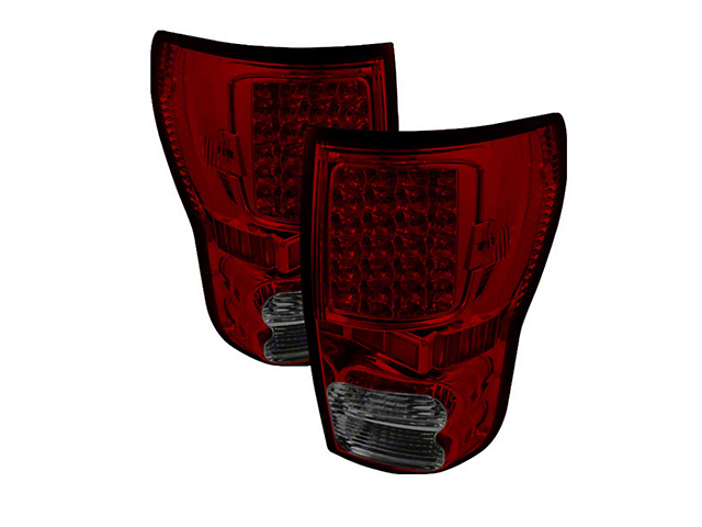 LED Tail Lights; Black Housing; Red Smoked Lens (07-13 Tundra)