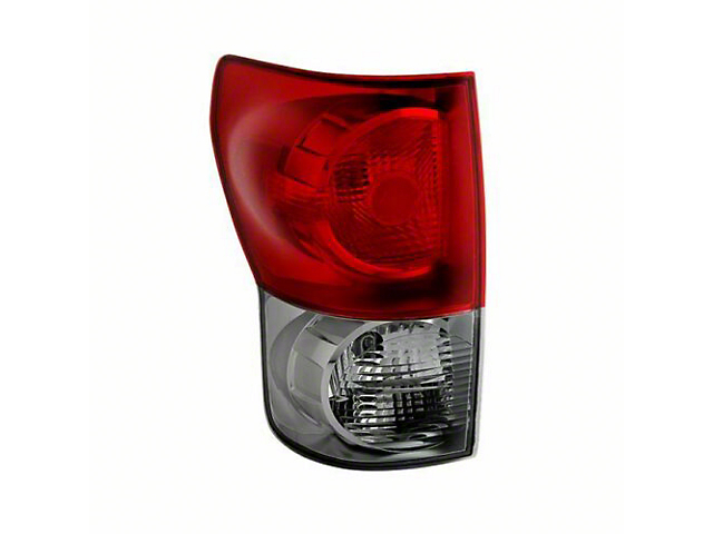 OE Style Tail Light; Chrome Housing; Red Smoked Lens; Driver Side (07-09 Tundra)
