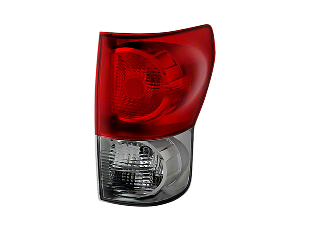 OE Style Tail Light; Chrome Housing; Red Smoked Lens; Passenger Side (07-09 Tundra)