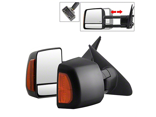 Powered Heated Telescoping Mirrors with Amber LED Turn Signal (07-14 Tundra)