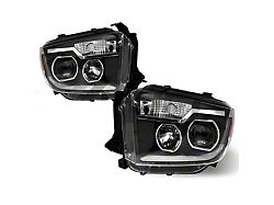 Renegade Series Projector DTR Sequential Headlights; Black Housing; Clear Lens (14-19 Tundra w/o Factory LED Headlights)