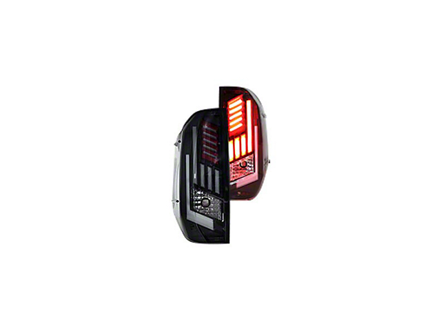Renegade Series Sequential LED Tail Lights; Black Housing; Smoked Lens (14-18 Tundra)