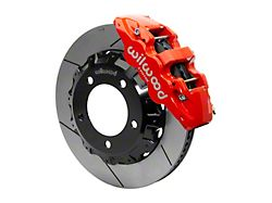 Wilwood AERO6 Front Big Brake Kit with 14.25-Inch Slotted Rotors; Red Calipers (07-15 Tundra)