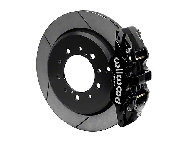 Wilwood AERO4 Rear Big Brake Kit with 14.50-Inch Slotted Rotors; Black Calipers (07-15 Tundra)