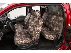 Covercraft SeatSaver Front Seat Cover; Prym1 Multi-Purpose Camo; With 40/20/40-Split Bench Seat, 3-Adjustable Headrests, Fold-Down Console, Cupholders and Seat Airbags (14-21 Tundra)