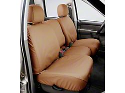Covercraft SeatSaver Second Seat Cover; Tan; With 60/40-Split Bench Seat, 3-Adjustable Headrests, Fold-Down Console and Center Shoulder Belt (07-13 Tundra CrewMax)