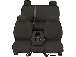 Covercraft SeatSaver Second Row Seat Cover; Waterproof Gray; With 60/40-Split Bench Seat, 3-Adjustable Headrests and Center Shoulder Belt (14-21 Tundra Double Cab)