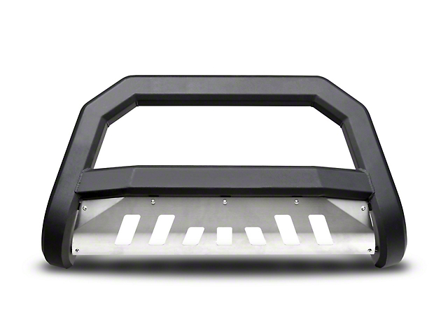 Armordillo Bumper Push Bar; Bull Guard; With Aluminum Skid Plate; AR Series; Matte Black (07-21 Tundra)