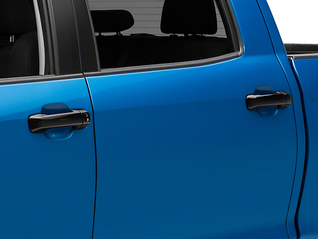 Door Handle Covers; Gloss Black (07-21 Tundra Double Cab, CrewMax)