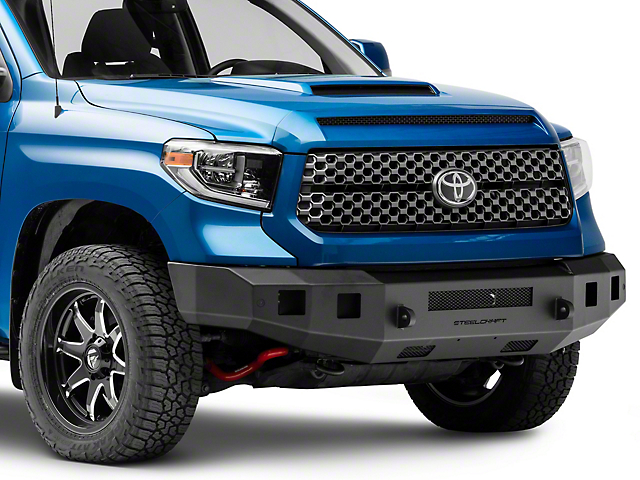 Fortis Front Bumper; Textured Black (07-21 Tundra)