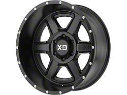 XD Fusion Satin Black 5-Lug Wheel; 18x9; 18mm Offset (07-13 Tundra)