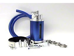 Prosport Oil Catch Can; Blue (Universal; Some Adaptation May Be Required)
