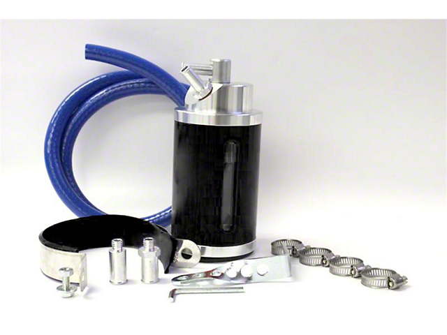 Prosport Oil Catch Can; Black (Universal; Some Adaptation May Be Required)