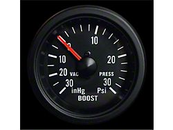 Prosport 52mm Waterproof Series Boost Gauge; Mechanical; 30 PSI; White (Universal; Some Adaptation May Be Required)