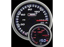 Prosport 52mm JDM Series Dual Display Oil Pressure Gauge; Electrical; Amber/White (Universal; Some Adaptation May Be Required)
