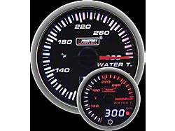 Prosport 52mm JDM Series Dual Display Water Temperature Gauge; Electrical; Amber/White (Universal; Some Adaptation May Be Required)