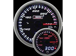 Prosport 52mm JDM Series Dual Display Oil Temperature Gauge; Electrical; Amber/White (Universal; Some Adaptation May Be Required)