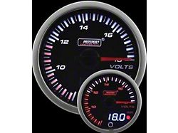 Prosport 52mm JDM Series Dual Display Volt Gauge; Electrical; Amber/White (Universal; Some Adaptation May Be Required)