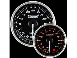 Prosport 52mm Supreme Series Boost Gauge; Electrical; 40 PSI; Amber/White (Universal; Some Adaptation May Be Required)