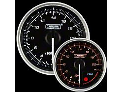 Prosport 52mm Supreme Series Exhaust Gas Temperature Gauge; Electrical; Amber/White (Universal; Some Adaptation May Be Required)