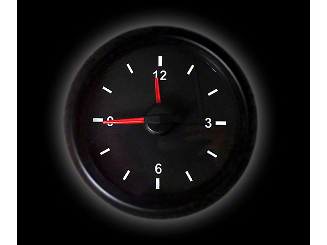 Prosport 52mm Waterproof Series Analog Clock; White (Universal; Some Adaptation May Be Required)