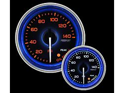 Prosport 52mm Crystal Blue Series Oil Pressure Gauge; Electrical; Amber/White with Blue Halo Ring (Universal; Some Adaptation May Be Required)
