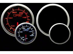Prosport 52mm Performance Series Oil Temperature Gauge; Electrical; Amber/White (Universal; Some Adaptation May Be Required)