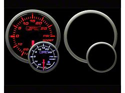 Prosport 52mm Premium Series Boost Gauge; 60 PSI; Amber/White (Universal; Some Adaptation May Be Required)