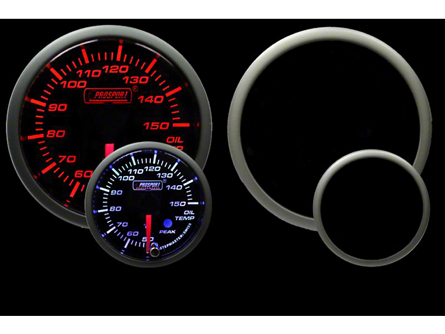 Prosport 52mm Premium Metric Series Oil Temperature Gauge; Electrical; Amber/White (Universal; Some Adaptation May Be Required)