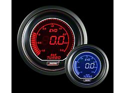 Prosport 52mm EVO Metric Series Boost Gauge; BAR; Red/Blue (Universal; Some Adaptation May Be Required)