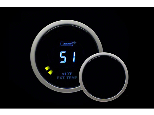 Prosport 52mm Digital Series Exhaust Gas Temperature Gauge; Blue LCD Display (Universal; Some Adaptation May Be Required)