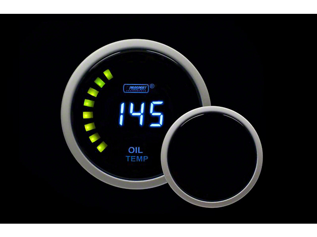 Prosport 52mm Digital Series Oil Temperature Gauge; Blue LCD Display (Universal; Some Adaptation May Be Required)