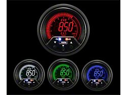 Prosport 60mm Premium EVO Series Exhaust Gas Temperature Gauge; Electrical; Blue/Red/Green/White (Universal; Some Adaptation May Be Required)