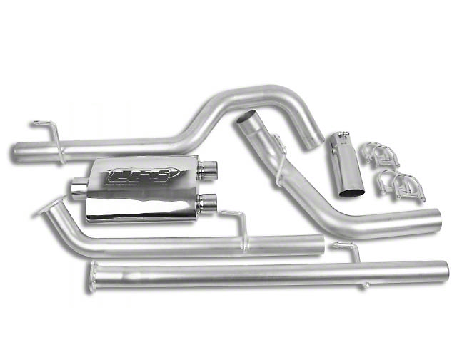 CGS Motorsports Aluminized Single Exhaust System with Polished Tip; Side Exit (07-13 5.7L Tundra)